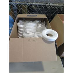 Qty 57 - Plastic White Rings. Parts for Ping Pong Toss game
