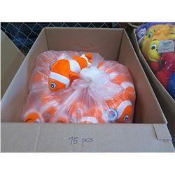 Qty 75 - Finding Nemo Fish Plush