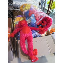 Qty 60 - Large Monkey Plush. Hands velcro together