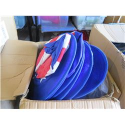 Qty 108 - Jumbo Patriotic Hat, Qty 45 - Newsboy Hats