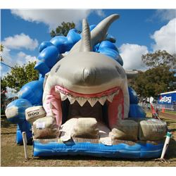 Qty 2 - Shark Slide Inflatable 25'x35 & Wave Slide 25'x35' Inflatable (blower not included)