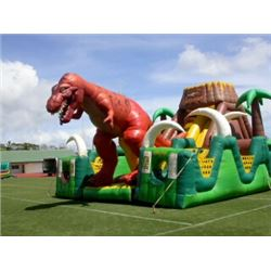 Jurassic Obstacle Course Inflatable 35'L x 25'W x 18' H (blower not included)