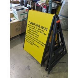 Qty 2 A-frame Sign Holders