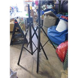 Qty 2 Speaker Tripod Stands (one needs repair)