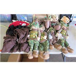 Mix lot Christmas Camo dolls and Hoodie, Shirts and tote bag