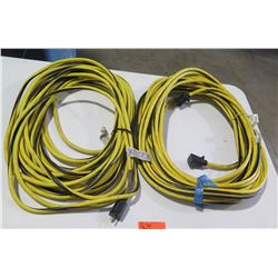 Qty 2 - 100' 10 guage extention cords