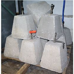 Qty 14 Cement Weights For Tents or Inflatables. Approx. 75 lbs
