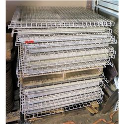Approximately 35 Pallet Rack wire decking