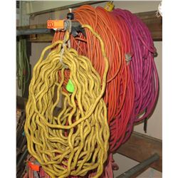 Qty 6 Extension Cords - 100 Foot Long 12 guage