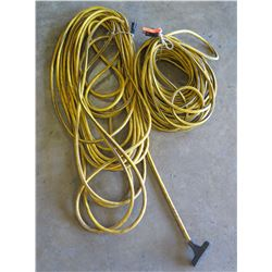 Qty 2 - 100 foot long Extension Cords 10 guage