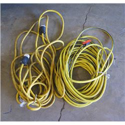 Qty 1 - 100 foot long Extension Cord and 10 guage cord with special twist connections