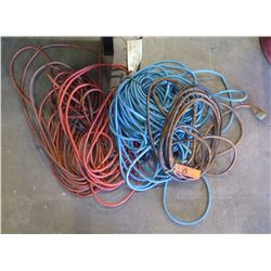 Qty 5 - Mixed size Extension Cords - 14-12 guage cords