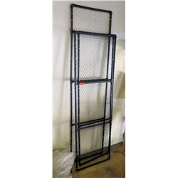 Black home made pvc chicken wire display to hold products