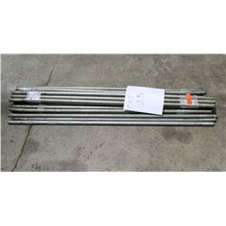 """Qty 25 - Galvanized 1""""x5' Poles - used for tents"""