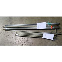 """Qty 12 - Galvanized 1""""x 6'.6"""" Poles/ Qty 7 - 1""""x4'4"""" Galvanized Poles"""