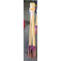 "Qty 5 - Rattan Brooms 58"" long - Rattan and Plastic Brooms"