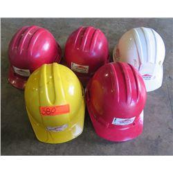 Qty 5 hard hats