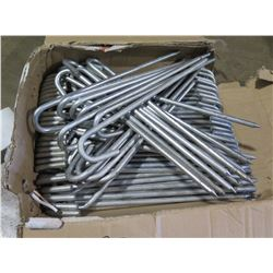 """Qty approx 80 - 18"""" hook stakes - New Never used"""