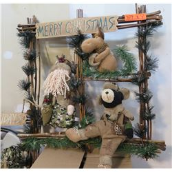 Qty 7 - Christmas framed decoration with animals as pictured