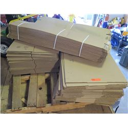 """Cardboard Boxes - 35 - 12""""x12""""x8"""", 34 -26""""x15""""x7"""", Unknown quantity of 4""""x4""""x48 as pictured."""