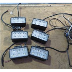 Qty 6 - LED Bright lights for forklift or other LED Light needs.