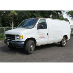 2000 Ford E250 Van, Parts/Repair, Engine Runs, Registration Expired