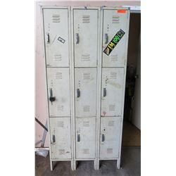 Metal Lockers - 9 Sections