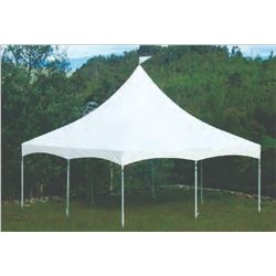 20'x20' High Peak Tent, Trio Frame System, Used, MISSING ONE 10ft Pole (Case #3)