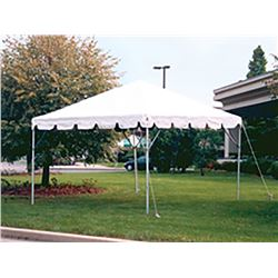 Qty 2- 10x10 frame tents.   Two sets of tents.   Missing one stablizer arm.   Tents are worn and dir