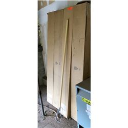 Boxes of Mop handles as pictured. Unknown qty, but 8 boxes.