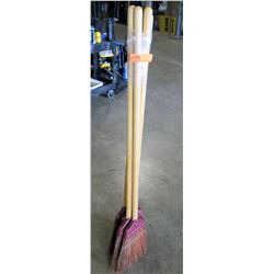 "Qty 5 - Rattan Brooms 58"" Long - Rattan"