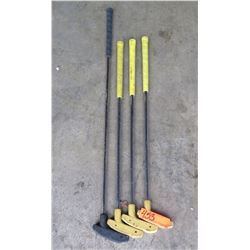 Putters three small and one large - For golf putt type of games