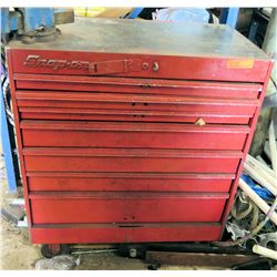 Snap-On Tool Box w/ Contents (Bench Vice Grip Attached to Toolbox)