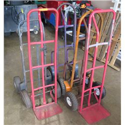 Qty 5 - Hand trucks.   Some need new tires but frames are all good.