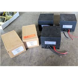 Qty 3 Ring Transformers & Qty 2 Batteries in Boxes