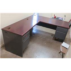 Office Desk, L-Shape Configuration