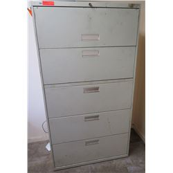 Five-Drawer Lateral Filing Cabinet