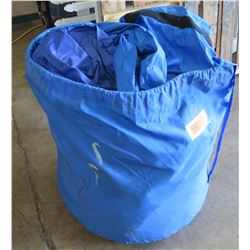 Blue Golf Cage Inflatable, Like New, Double Net on the Back of the Unit