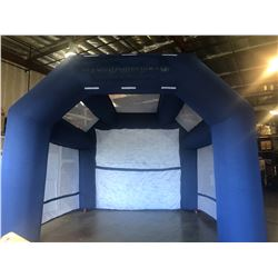 Dark Blue Golf Cage Inflatable