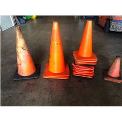 Misc. Traffic Cones, Approx.16 qty (Small, Med & Large Sizes)