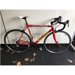 RED CANNONDALE 18 - SPEED ROAD BIKE