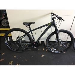 GREY RALEIGH TALUS 2 21 - SPEED FRONT SUSPENSION MOUNTAIN BIKE WITH FULL DISC BRAKES