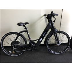 BLACK GENZE 8 - SPEED ELECTRIC CRUISER BIKE WITH  FULL DISC BRAKES (WORKING CONDITION UNKNOWN, NO