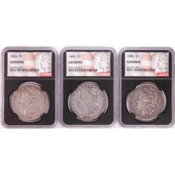 Lot of 1884-1886 $1 Morgan Silver Dollar Coins NGC Genuine
