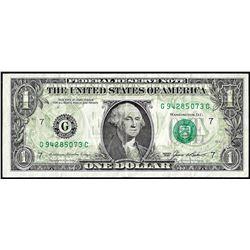 1985 $1 Federal Reserve Note Full Offset ERROR