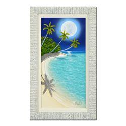 "Dan Mackin ""Following the Moon"" Original Oil Painting on Canvas"