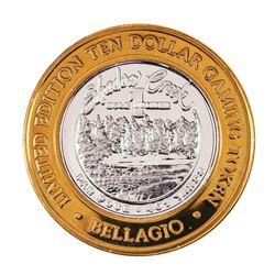 .999 Fine Silver Bellagio Las Vegas, NV $10 Limited Edition Gaming Token