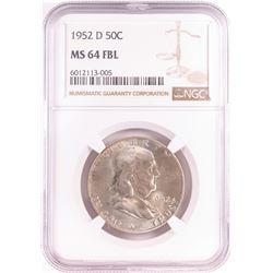 1952-D Franklin Half Dollar Coin NGC MS64FBL