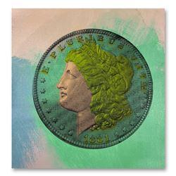 """Steve Kaufman (1960-2010) """"1881 Coin"""" Limited Edition Silkscreen on Canvas"""