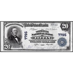 1902PB $20 Commercial NB of Tiffin, Ohio CH# 7795 National Currency Note